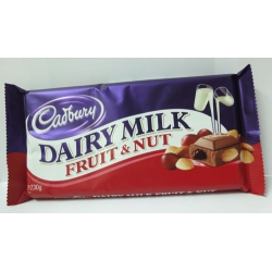 Cadbury Dairy Milk Chocolate Bars (Fruit And Nuts)